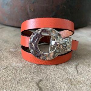 Women's Triple Wrap Leather Bracelet